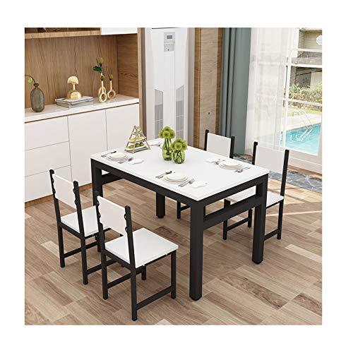 AKKY Essgruppe mit 4 stühlen,Esszimmertisch Esstischset,Küchentisch Esszimmer Stuhl Tisch Set Sitzgruppe Esstisch mit 4 Stühlen