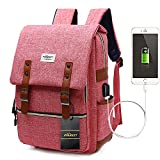Zaino Laptop, Puersit Zaino PC Donna 15.6 Pollici Zaino Porta PC Zaino Casual con Caricatore USB per università o scuola Backpack uomo business