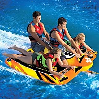 WOW World of Watersports 1-4 Person Bolt Towable, Orange, Heavy Duty, 680 Pounds Weight Capacity, 16-1040