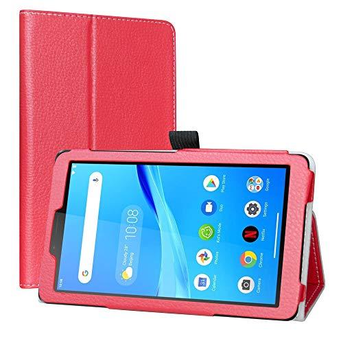 LiuShan Hoes voor Lenovo Tab M7, Slim PU lederen tas en opvouwbare standaard Folio Cover Case Hoesje voor 7