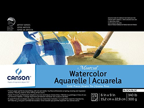 Canson Montval Watercolor Block, Cold Press Acid Free French...