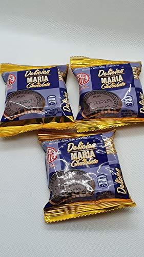 Kekse DELICIAS MARIA & CHOCOLATE Venezuela, Keks MARIA PUIG kombiniert mit Milchschokolade/ galleta MARIA PUIG combinada con Chocolate de Leche (3 Einzelne Cookies)