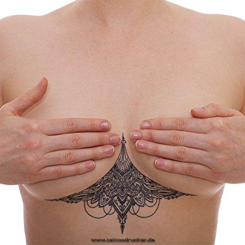 2 x Sexy Unter Brust Tattoo schwarz - Underboob Tattoo Under Breast - No China! (2)