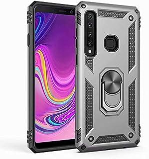Samsung Galaxy A9 2018 Yüzüklü Vega Shell Kılıf Gri(Gümüş)