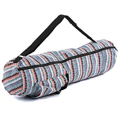 Shipenophy Correa ligera Yoga Mat Carrier Fintess Bag para fitness (azul claro hielo)