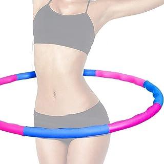 Fitness Hula Hoop - 8 sektioner Skum Hula Hoop Däck för viktminskning Fitness