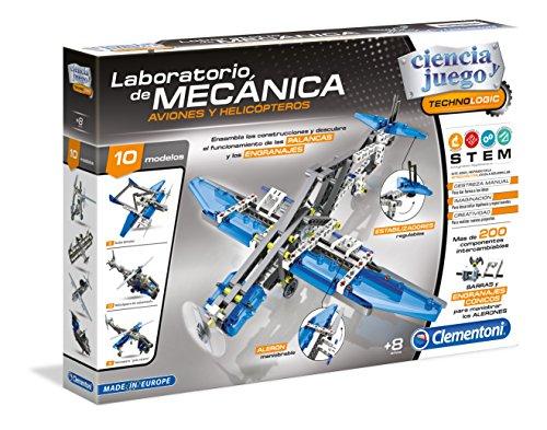 Clementoni- Laboratorio de Mecánica Juguete Aviones y Helicópteros, Multicolor (55160.6)