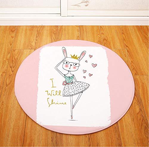 Yang Jingkai Rond tapijt voor kinderen, gymnastiekmat, woonkamer, tapijt, salontafel, mat, baby crawling tapijten