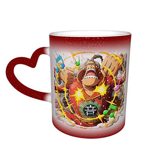 IUBBKI Drinkware Tazas Scratchmen Apoo O-N-E-Piece Tazas mágicas de café sensibles al calor