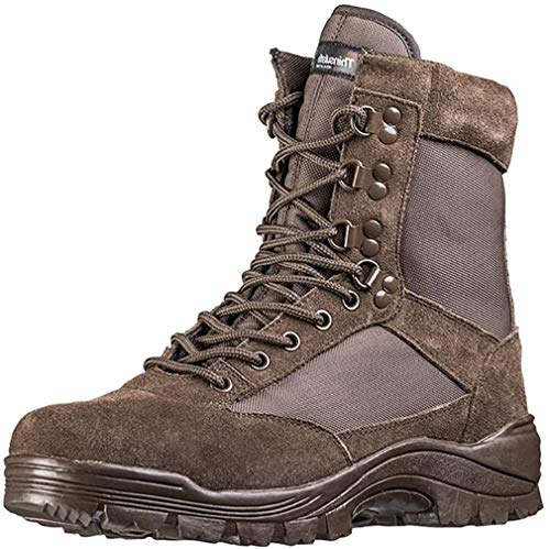 Tactical Boot mit YKK-Zipper,43 EU,Braun