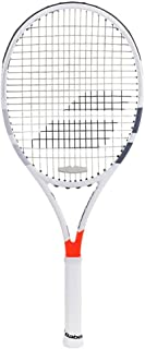 Babolat Pure Strike 18x20 Gray/Orange Tennis Racquet (4 5/8 Inch Grip) Strung with Lime Green String (Dominic Thiem's Racket)