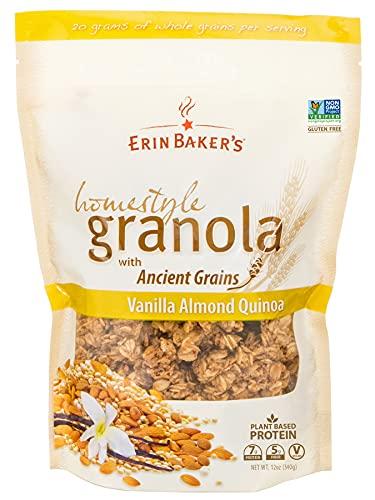 Erin Baker's Homestyle Granola, Vanilla Almond Quinoa, Gluten-Free, Ancient Grains, Vegan, Non-GMO, Cereal, 12-ounce bag