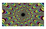 WIM Scientific Laboratories Psychedelic Illusion | Festival Flag Rave Tapestry | 3 x 5 FT