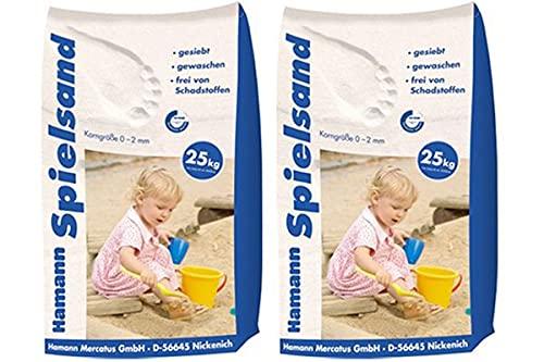 Hamann Spielsand Classic 50 kg Sack - Qualitäts Quarzsand - gesiebt - frei von Schadstoffen - gewaschen
