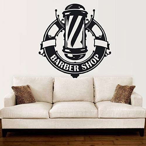 Pegatinas de pared para encimera de cocina, peluquería, ventana, peluquería, peluquería, logotipo, impermeable, romántico, refrigerador, niños, navidad, acrílico, arte, sala de estar, 57x59cm