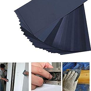 Wuudi 27PCS Sandpaper Grit Wet Dry Sandpaper Sheets for Automotive Sanding Wood Furniture Finishing Home