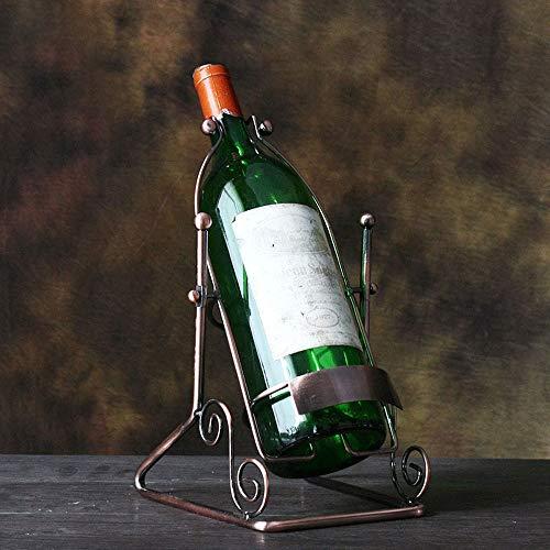 Wijnrekken 1.5L Flesje Aanrechtblad Wijnrek Metalen Wijnrek Wijnrek Wijn Rek Desktop Rek Brons Kleine Familie Bar Wijnrek Aanrechtblad Wijnrek