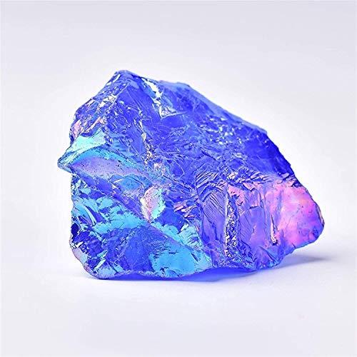Namvo 2 pièces Cristal Naturel Pierre Brute galvanoplastie spécimens de Quartz minerai Brut Pierre précieuse minérale réservoir de Poisson décoration énergie Bricolage Cadeau
