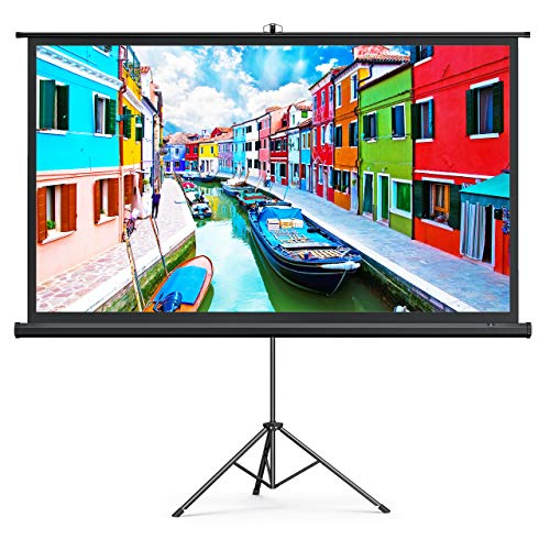 TaoTronics Projector Screen with Stand,Indoor Outdoor PVC Projection Screen 4K HD 100