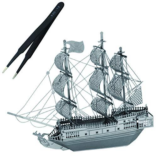 フェリモア 立体パズル パズル おもちゃ 玩具 オブジェ 海賊船 メタリック ピンセット付属