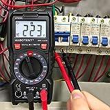 SP-Cow Multimetro Digital Profesional-2000 counts,Polimetro mide AC/DC voltaje y DC corriente, Ohmímetro continuidad,Mini Multímetro Portátil con Pantalla LCD,tester eletrico con retención de datos