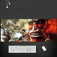 タイタンマウスパッドへの攻撃拡張大型ゲームアニメマウスパッド、滑り止め耐水性ゴムベースマウスマット700X300X3MM-A_700*300*3MM