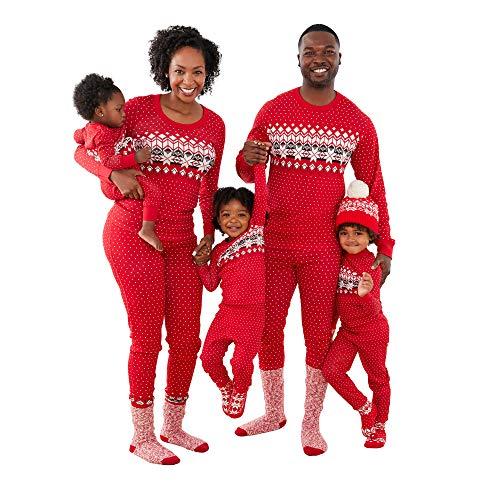 Hanna Andersson Kids Fairisle in Red Family Pajamas