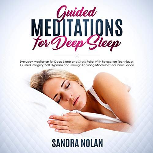 Guided Meditations for Deep Sleep audiobook cover art