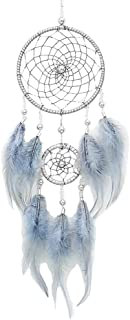 YOUOR Handmade Dream Catchers Wall Hanging Feathers Ornament Car Interior Rearview Mirror Pendant