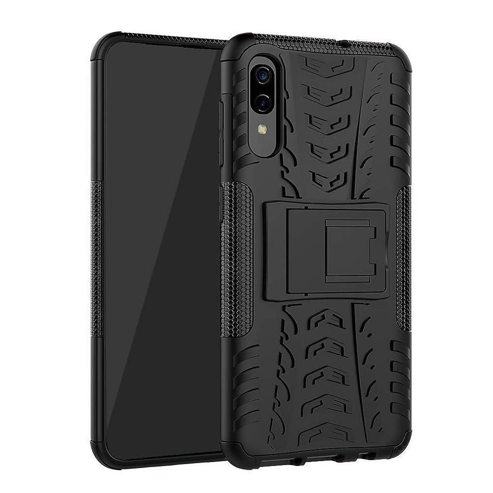 Galaxy A70 Case, SKTGSLMY [Shockproof] Tough Rugged Dual Layer Protective Case Hybrid Kickstand Cover for Samsung Galaxy A70 Black cwtvowpmo3342