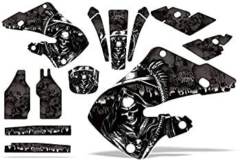 AMR Racing MX Dirt Bike Graphics kit Sticker Decal Compatible with Honda CR125 1998-1999 and CR250 1997-1999 - Reaper Black