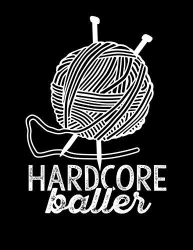 HARDCORE BALLER Knitting Graph Paper 4:5: 8.5