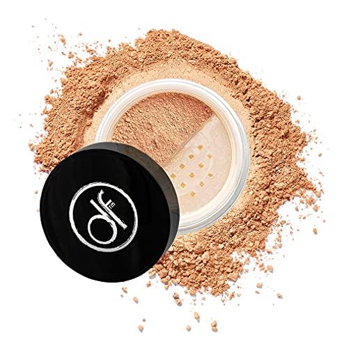 Dermaflage fondotinta in polvere minerale per la pelle sensibile, polvere crema solare con SPF 26, tutti gli ingredienti naturali, protezione anti-ossidante 5g (bronzo medio)