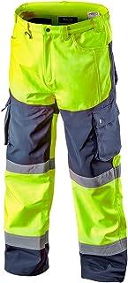 Grupa topex Neo Yellow Hi Vis Softshell Cargo Work Trousers Waterproof Windproof Fleece Lining