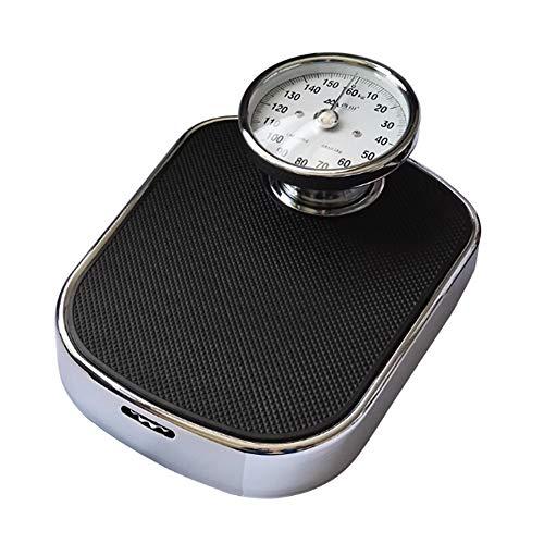 Báscula mecánica de piso para el cuidado profesional en el hogar, capacidad de 350 lb,báscula con dial elevado grande,báscula de baño analógica de acero inoxidable de gran tamaño,sin botones/batería