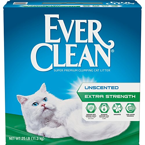 Ever Clean Extra Strength, Clumping Cat Litter, Unscented, 25...