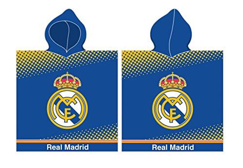Unbekannt Poncho Real Madrid RM171171 - Asciugamano da spiaggia con cappuccio, 55 x 110 cm