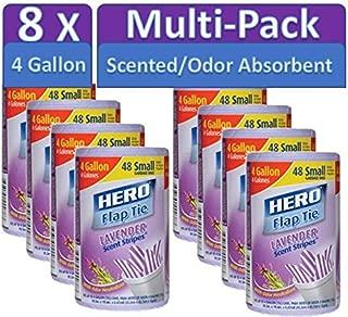 Hero Trash Bag 4 Gallon Lavender Scented Scent Stripes 384-ct case