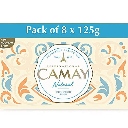Camay Natural International Beauty Bath Bar | Beauty Bathing Soap|French Fragrance|For All Skin Types 125g|PO8