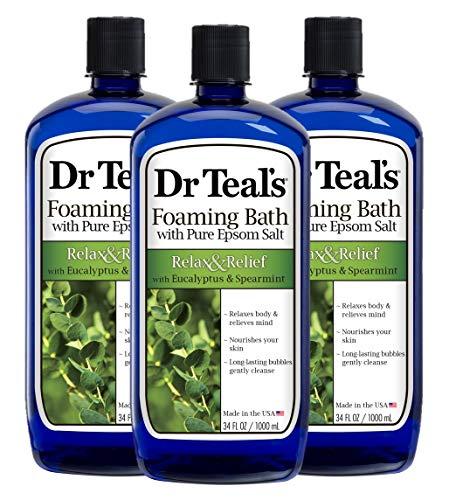 Dr Teal's Foaming Bath, Eucalyptus, 34 Ounce (Pack of 3)