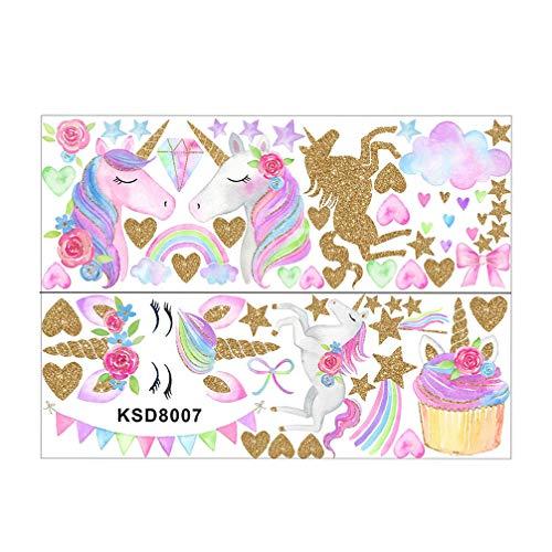 STOBOK - calcomanía decorativo para pared, diseño de unicornio