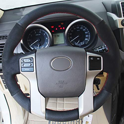 JIANGJUNCHE Für Schwarz DIY Auto Lenkradbezug für Toyota Land Cruiser Prado 2010 2015 Tundra Tacoma 4Runner,Light Blue