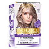L'Oréal Paris Permanente Haarfarbe mit ultra kühlem Farbergebnis, 100% Grauhaarabdeckung, Set mit...