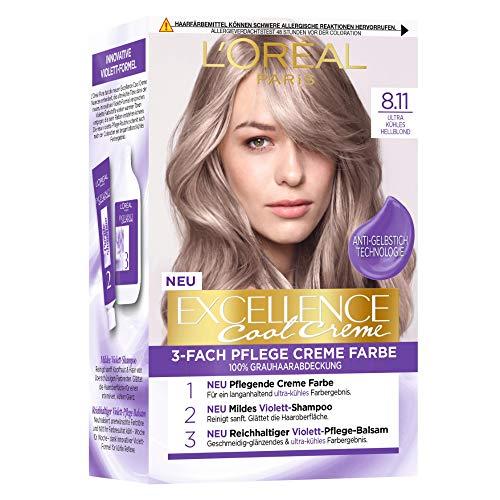 L'Oréal Paris Excellence Cool Creme 8.11 Ultra kühles Hellblond, 258 g