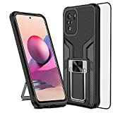 for XiaoMi Redmi Note 10 4G Case with Tempered Glass...