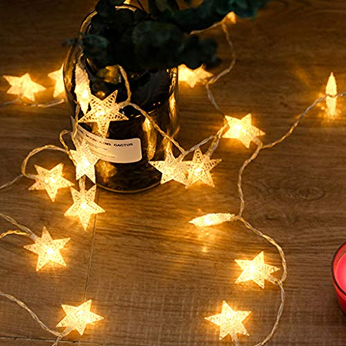 LED Twinkle Star Warm White String Lights, Indoor Outdoor Fairy String Lights, for Kids Room Bedroom Wall Teepee Tent Wedding Party Festival Decoration