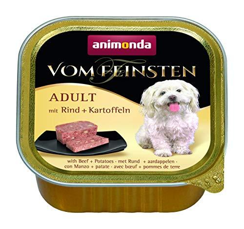 animonda Vom Feinsten Adult Hundefutter, Nassfutter für ausgewachsene Hunde, mit Rind + Kartoffeln, 22 x 150 g
