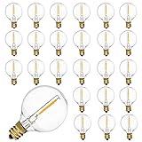 Bombillas LED de repuesto E12, 25 unidades, 230 V, G40, iluminación de terraza, blanco cálido, 0,6 W, para fiestas, jardín, boda, gazebos