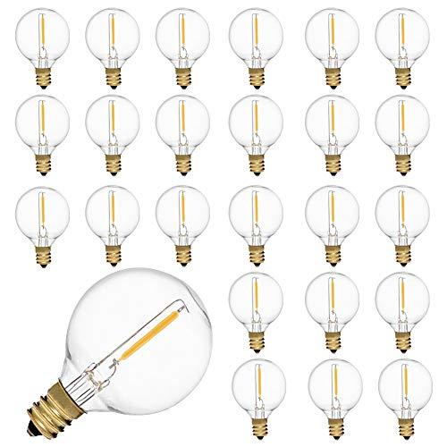 Bombillas LED de repuesto E12, 25 unidades, 230 V, G40, iluminación de terraza, blanco cálido, 0,6...