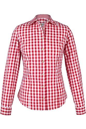 Almsach Damen Trachten-Bluse rot-weiß kariert 'Maria', rot, 46